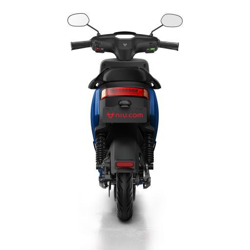 MQi+ Sport Electric Moped Blue Rear 1280 x 853