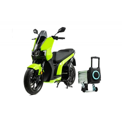 Silence S01 Electric Motorcycle Green Front Left with Battery.jpg
